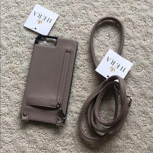 iPhone 6 Plus leather crossbody case